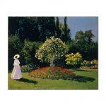 Tablou Arta Clasica Pictor Claude Monet Jeanne-Marguerite Lecadre in the Garden 1866 80 x 100 cm