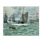 Tablou Arta Clasica Pictor Claude Monet Entrance to the Port of Honfleur 1870 80 x 100 cm