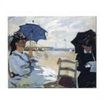 Tablou Arta Clasica Pictor Claude Monet The Beach at Trouville 1870 80 x 100 cm