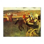 Tablou Arta Clasica Pictor Edgar Degas The Racecourse, Amateur Jockeys 1880 80 x 100 cm