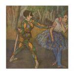 Tablou Arta Clasica Pictor Edgar Degas Harlequin and Colombina 1886 80 x 80 cm