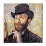 Tablou Arta Clasica Pictor Edgar Degas Portrait of Zacherie Zacharian 1886 80 x 80 cm