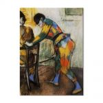 Tablou Arta Clasica Pictor Edgar Degas Two harlequins 1886 80 x 100 cm
