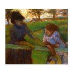 Tablou Arta Clasica Pictor Edgar Degas The Conversation 1889 80 x 90 cm