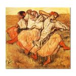 Tablou Arta Clasica Pictor Edgar Degas Three Russian Dancers 1895 80 x 80 cm
