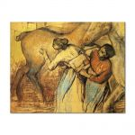 Tablou Arta Clasica Pictor Edgar Degas Two Laundresses and a Horse 1902 80 x 100 cm