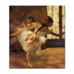 Tablou Arta Clasica Pictor Edgar Degas Repetition of the Dance, detail 1877 80 x 90 cm