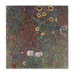 Tablou Arta Clasica Pictor Gustav Klimt Country Garden with Sunflowers 1905 80 x  80 cm