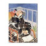 Tablou Arta Clasica Pictor Henri Matisse Mlle Matisse in a Scotch Plaid Coat 1918 80 x 100 cm
