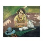 Tablou Arta Clasica Pictor Henri Matisse Reading Woman with Parasol 1921 80 x 90 cm