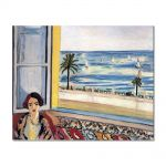 Tablou Arta Clasica Pictor Henri Matisse Seated Woman, Back Turned to the Open Window 1922 80 x 100 cm