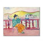Tablou Arta Clasica Pictor Henri Matisse Lady on a Terrace 1907 80 x 100 cm