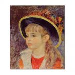 Tablou Arta Clasica Pictor Pierre-Auguste Renoir Young girl in a blue hat 1881 80 x 90 cm