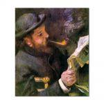 Tablou Arta Clasica Pictor Pierre-Auguste Renoir Claude Monet reading 1872 80 x 90 cm