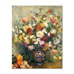 Tablou Arta Clasica Pictor Pierre-Auguste Renoir Vase of chrysanthemums 1882 80 x 100 cm