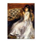 Tablou Arta Clasica Pictor Pierre-Auguste Renoir Young woman in white reading 1873 80 x 100 cm