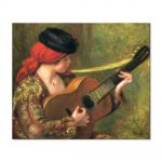 Tablou Arta Clasica Pictor Pierre-Auguste Renoir Young spanish woman with a guitar 1898 80 x 100 cm