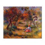 Tablou Arta Clasica Pictor Pierre-Auguste Renoir Le Jardin de la poste Cagnes 1906 80 x 100 cm