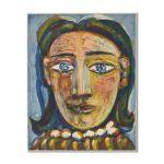 Tablou Arta Clasica Pictor Pablo Picasso Head of a Woman No. 1. Portrait of Dora Maar 1939 80 x 100 cm
