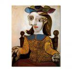 Tablou Arta Clasica Pictor Pablo Picasso The yellow shirt. Dora Maar 1939 80 x 100 cm