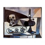 Tablou Arta Clasica Pictor Pablo Picasso Skull, urchins and lamp on a table 1943 80 x 100 cm
