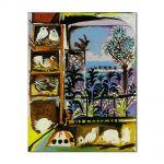 Tablou Arta Clasica Pictor Pablo Picasso Studio. Pigeons. Velazquez. 1960 80 x 100 cm