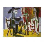 Tablou Arta Clasica Pictor Pablo Picasso Painter and his model 1964 80 x 100 cm