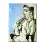 Tablou Arta Clasica Pictor Pablo Picasso Female nude sitting in the armchair 1964 80 x 100 cm