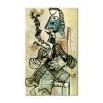 Tablou Arta Clasica Pictor Pablo Picasso Man with pipe 1968 80 x 120 cm