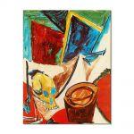 Tablou Arta Clasica Pictor Pablo Picasso Composition with skull. Study 1907 80 x 100 cm