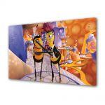 Tablou Canvas cu Ceas Animatie pentru Copii Albinuta, 30 x 45 cm
