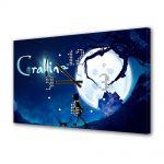 Tablou Canvas cu Ceas Animatie pentru Copii Coraline Movie, 30 x 45 cm