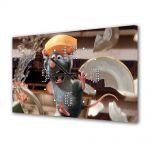 Tablou Canvas cu Ceas Animatie pentru Copii Ratatouille Movie, 30 x 45 cm