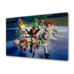 Tablou Canvas cu Ceas Animatie pentru Copii Toy Story 3 Great Escape, 30 x 45 cm