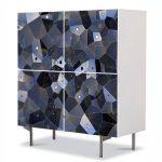 Comoda cu 4 Usi Art Work Abstract Geometrie, 84 x 84 cm