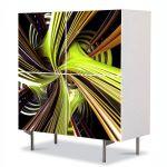 Comoda cu 4 Usi Art Work Abstract Vegetal 1, 84 x 84 cm