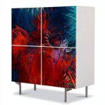 Comoda cu 4 Usi Art Work Abstract Modern, 84 x 84 cm