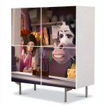 Comoda cu 4 Usi Art Work pentru Copii Animatie filmul Albinuta , 84 x 84 cm