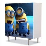 Comoda cu 4 Usi Art Work pentru Copii Animatie Despicable Me 2 Minionii Razand , 84 x 84 cm