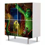 Comoda cu 4 Usi Art Work pentru Copii Animatie Monster University Party , 84 x 84 cm