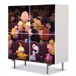 Comoda cu 4 Usi Art Work pentru Copii Animatie The Peanuts Cinema 2015 , 84 x 84 cm