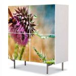 Comoda cu 4 Usi Art Work Flori Floare Gyumri, 84 x 84 cm