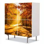 Comoda cu 4 Usi Art Work Peisaje Serendipity, 84 x 84 cm