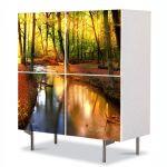Comoda cu 4 Usi Art Work Peisaje Parau, 84 x 84 cm