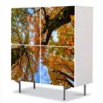 Comoda cu 4 Usi Art Work Peisaje Doi copaci de jos, 84 x 84 cm