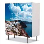 Comoda cu 4 Usi Art Work Peisaje Grecia, 84 x 84 cm