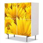 Comoda cu 4 Usi Art Work Peisaje Galben aprins, 84 x 84 cm