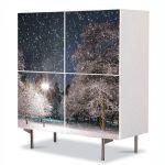Comoda cu 4 Usi Art Work Peisaje Cer plin de stele, 84 x 84 cm