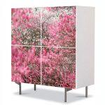 Comoda cu 4 Usi Art Work Peisaje Nuante de roz, 84 x 84 cm