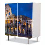 Comoda cu 4 Usi Art Work Urban Orase Colosseum Roma, 84 x 84 cm